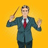 PNF Art Music Conductor Man com um bastão Imagens de Stock