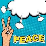 PNF Art Template da mão da paz Imagens de Stock Royalty Free