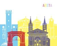 PNF da skyline de Aosta ilustração royalty free