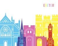 PNF da skyline de Exeter ilustração do vetor