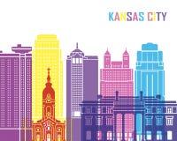 PNF da skyline de Kansas City_V2 ilustração stock