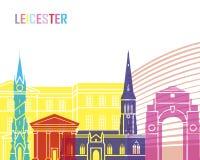 PNF da skyline de Leicester ilustração royalty free