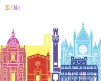 PNF da skyline de Siena ilustração do vetor