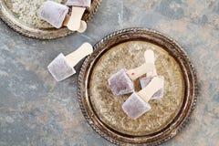 PNF do mirtilo e do iogurte Imagens de Stock Royalty Free