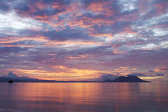 PNG: Заход солнца Tokua Стоковые Фотографии RF