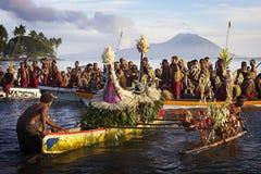 PNG :Tolai战士在Tokua 免版税库存图片