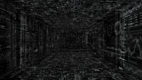 Png-Alpha Techno-Cyberspace HUD-Intro lizenzfreie abbildung