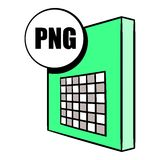 PNG file icon cartoon. PNG file icon in cartoon style isolated vector illustration Stock Image