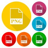 PNG file icons set Stock Images