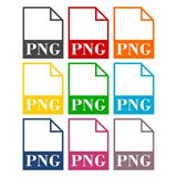 PNG file icons set Royalty Free Stock Photo