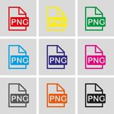 PNG icon stock vector illustration flat design Royalty Free Stock Photography