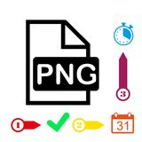 PNG icon stock vector illustration flat design Royalty Free Stock Image