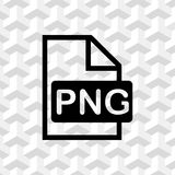 PNG icon stock vector illustration flat design Stock Image