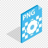 PNG image file extension isometric icon. 3d on a transparent background vector illustration Stock Photography