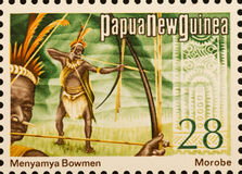 PNG stamp Menyamya Bowmen Stock Photo