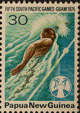 PNG stamp South Pacific Games Stock Image