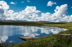 Północnej connemara lake Zdjęcia Royalty Free