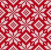 Północny trykotowy bezszwowy wzór Zdjęcia Royalty Free