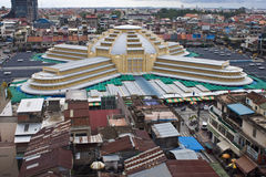 Pnom Penh鸟瞰图  库存照片
