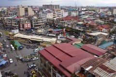 Pnom Penh鸟瞰图  免版税库存照片