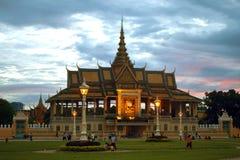 王宫在Pnom Penh 库存照片