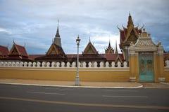 王宫在Pnom Penh 免版税库存照片
