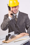 pnone бизнесмена Стоковое фото RF