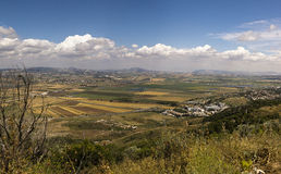 Pnoramic view Yizrael valley Stock Image