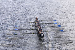 PNRA-Mercer de rassen van Rowing in het Hoofd van de Jeugd Eights van Charles Regatta Women stock foto's