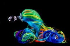 Pny färgstil för anal propp arkivbilder