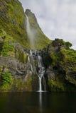 Poço делает водопад Bacalhau, остров Flores, Азорские островы, Португалию Стоковые Фото