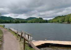 Počúvadlo - Lake. Počúvadlo is a village and municipality in Banská Štiavnica District, in the Banská Bystrica Region of Slovakia stock images