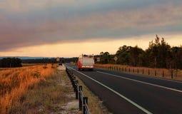 Pożarnicza i Ratownicza odpowiedź bushfire zdjęcia stock