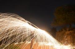 Pożarniczy deszcz obraz stock