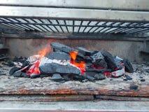 Pożarniczy węgiel drzewny fotografia royalty free