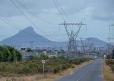 Południe - afrykańska władzy użyteczność na krawędzi zawalenia się zdjęcia royalty free
