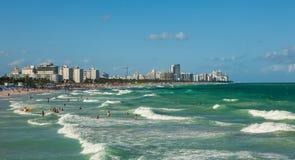 Południe plaża w Miami plaży, Floryda, Stany Zjednoczone fotografia stock