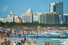Południe plaża w Miami plaży, Floryda, Stany Zjednoczone obraz stock