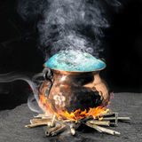 Poção mágica azul foto de stock royalty free