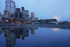Poça do cais de Seattle Foto de Stock