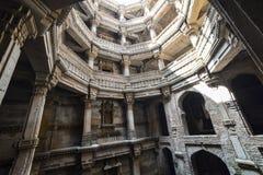 Poço antigo na Índia de Ahmedabad, Gujara foto de stock