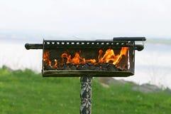 Poço ao ar livre do BBQ Foto de Stock