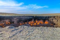 Poço 04 da cratera do gás de Darvaza imagens de stock