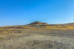 Poço 07 da cratera do gás de Darvaza fotos de stock
