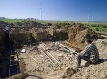 Poço das fundações da casa Fotos de Stock