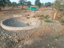 Poço de água, agricultura foto de stock