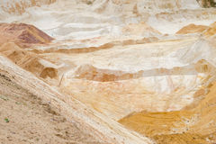 Poço de areia que mina o quartzo industrial Fotografia de Stock Royalty Free
