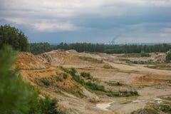 Poço de areia que ossling Imagens de Stock Royalty Free