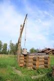Poço de madeira fotografia de stock