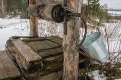Poço de madeira velho. Foto de Stock Royalty Free